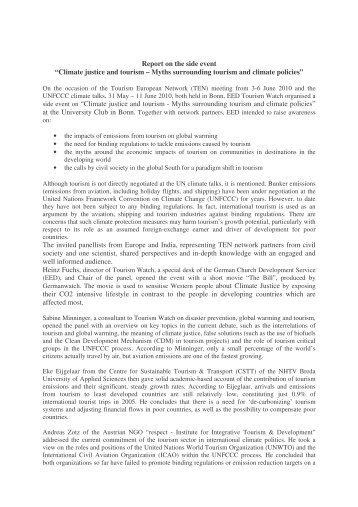 Report on the TEN side event_panellists_28.06.pdf - Tourism Watch