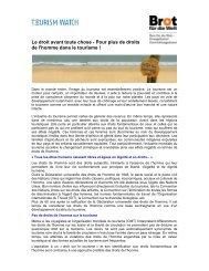 Menschenrechte und Tourismus_französisch - Tourism Watch