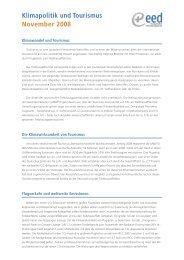 Klimapolitik und Tourismus November 2008 - Tourism Watch