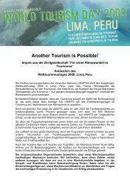 Civil Societies perspective on World Tourism Day ... - Tourism Watch