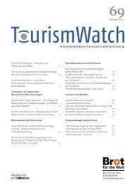 Informationsdienst Tourismus und Entwicklung - Tourism Watch