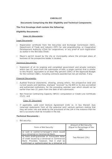 how to prepare a bid document