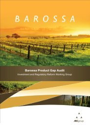Barossa Product Gap Audit - South Australian Tourism Commission