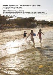 Yorke Peninsula Destination Action Plan - South Australian Tourism ...