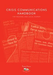 Crisis Communications Handbook for Regional ... - Tourism Victoria