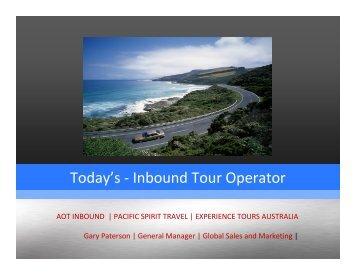 Gary Paterson, AOT - Tourism Victoria