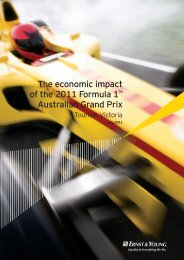 The economic impact of the 2011 Formula 1 ... - Tourism Victoria