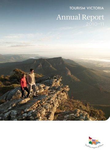 Annual Report 2010–2011, Part 1: Performance - Tourism Victoria