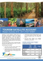 2010-11 Fact Sheet - Tourism Western Australia
