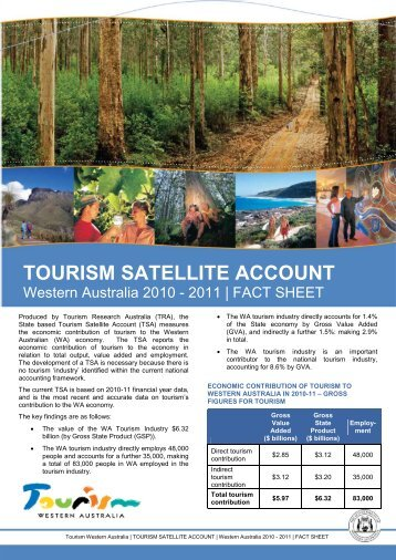 2010-11 Fact Sheet - Tourism Western Australia