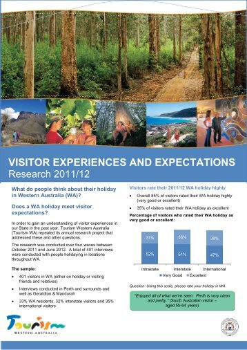 visitor experiences and expectations - Tourism Western Australia