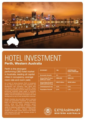 HOTEL INVESTMENT - Tourism Western Australia