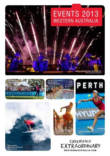 2013 Events Calendar - Tourism Western Australia