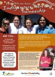 Indigenous Tourism Traineeship [pdf ] - Tourism Western Australia