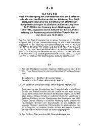 Stellplatzablösesatzung - Ennepetal