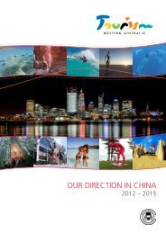 Our Direction in China 2012 - 2015 [pdf ] - Tourism Western Australia