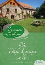 Gîtes d'étape & groupes - Office de Tourisme Laragne