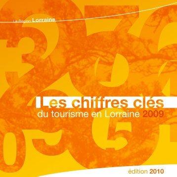 Chiffres Clés du Tourisme en Lorraine 2009 - Observatoire Lorrain ...