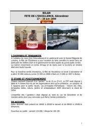 Bilan Fête de l'Excellence - Tourisme en Lorraine