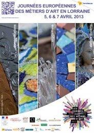 journées européennes des métiers d'art en ... - Nancy Tourisme