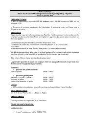 Fiche technique Salon des Vacances Utrecht (professionnel et ...