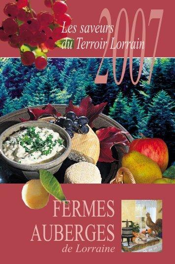 FERMES AUBERGES - Tourisme en Lorraine