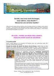 Découvrez une Lorraine insolite - Tourisme en Lorraine