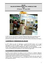 Bilan Salon agriculture, Paris 2010 - Tourisme en Lorraine