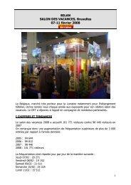 Bilan Salon des Vacances Bruxelles 08 - Tourisme en Lorraine