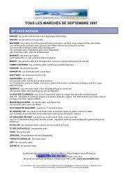 tous les marchés de septembre 2007 - Tourisme 64