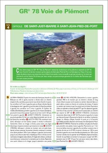 GR® 78 Voie de Piémont - Tourisme 64
