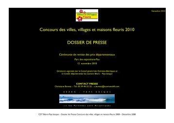 CONCOURS DES VILLES, VILLAGES - Tourisme 64