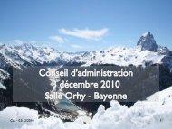CA – 03/12/2010 1 - Tourisme 64