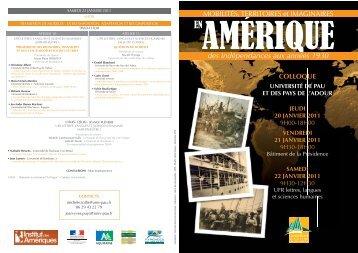 Programme - Université de Pau et des Pays de l'Adour