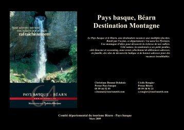 DP Bearn-Pays basque, destination Montagne - Tourisme 64