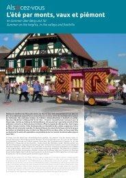 Schedule of events Alsace - Summer 2013 - Agence de ...
