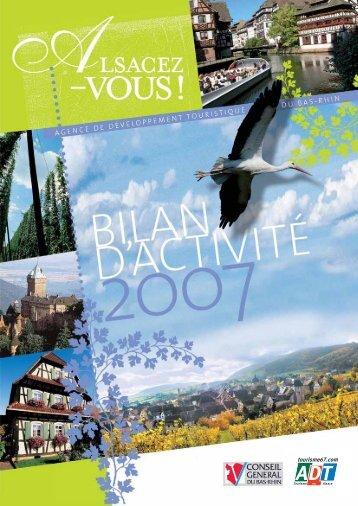 Bilan d'activité 2007 - Agence de développement touristique du Bas ...