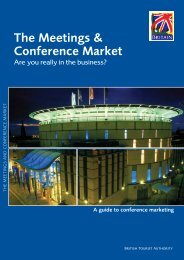 The Meetings & Conference Market - BVEP - Business Visits and ...