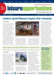 Leisure Opportunities 23rd March 2010 ISSUE 524