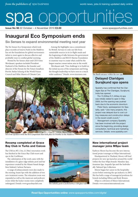 Spa Opportunities Issue 98 - Tourisminsights.info