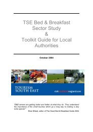 TSE Bed & Breakfast Sector Study & Toolkit Guide ... - TourismInsights