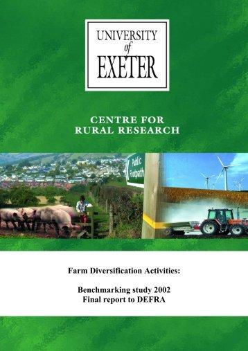 Farm Diversification Activities: - TourismInsights