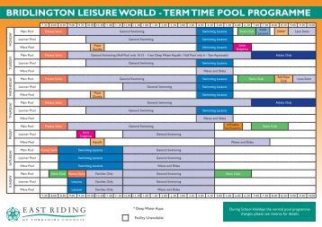 Keswick Leisure Pool Programme April To September 2013 In Pdf