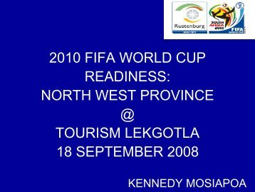 download presentation - Tourism in South Africa, North-West Province