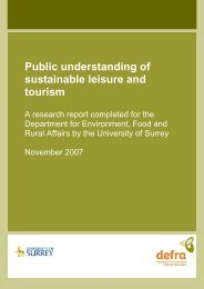 Public understanding of sustainable leisure and ... - TourismInsights