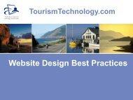Website Design Best Practices Presentation - TourismTechnology.com