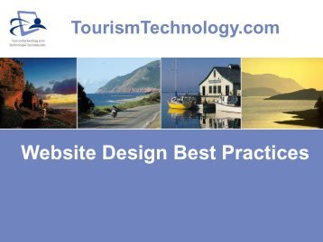 Website Design Best Practices Presentation - TourismTechnology.com
