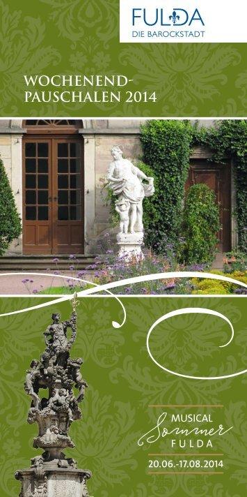 Wochenend-Pauschalen 2014 PDF - Tourismus Fulda