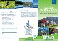 ALLGÄUER WANDERTAGE 2010 - Tourismus Ostallgäu