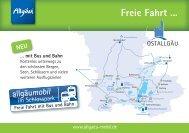 freie Fahrt mit Bus und Bahn - Füssen